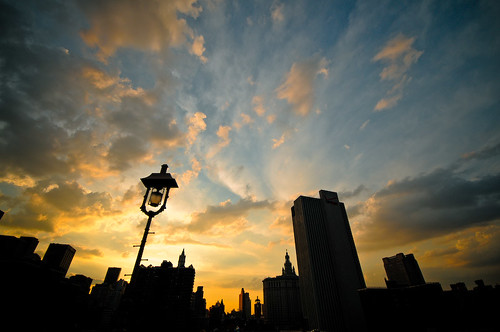 Skies above Manhattan