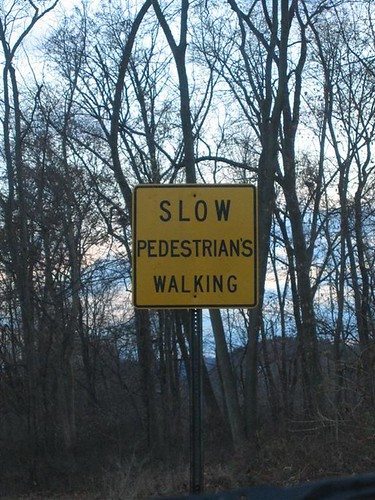 Special sign for special pedestrians