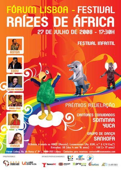 Festival infantil - Raízes de África