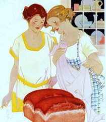 Detail from ad for yeast - 1923 (Vintage Dish) Tags: 1920s vintage bread baking ad 1923