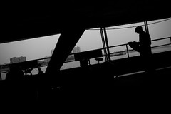 Pearl River ferry (morf*) Tags: guangzhou china silhouette ferry river boat newspaper flickr pearl