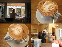 Breakfast at Cest La Vie in Kalk Bay (mallix) Tags: bear street new morning sunlight holiday cooking window coffee breakfast bread southafrica restaurant early baking healthy warm baker teddy eating secret small picture cook capetown spot cobbled fresh eat bakery local organic worldcup cappuccino quaint peninsula making rating delicacy 2010 kalkbay offstreet soccerworldcup cestlavie worldcup2010 fifa2010