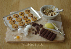 Cookie Preparation Board! (PetitPlat - Stephanie Kilgast) Tags: food house cute scale cookies sushi miniatures miniature junk doll little sweet handmade chocolate sugar polymerclay tiny chip minifood sk collectible 112 preparation minis dollhouse petit plat oneinch fakefood dollshouse oneinchscale petitplat minaituren stephaniekilgast