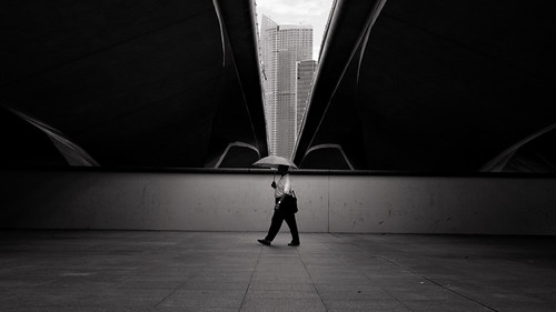 Man  with a umbrella by gerald L.J.