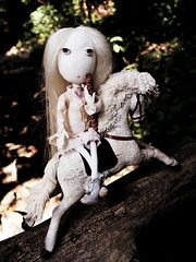 She will make music wherever she goes (Ragazza*) Tags: runaway eliza carouselhorse handmadedoll takiyaje