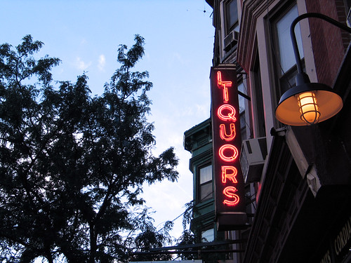 Liquor Sign in Park Slope, Brooklyn