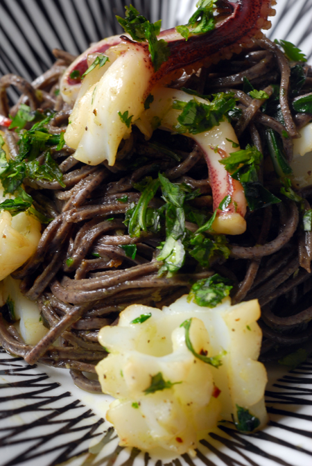 Black Bean Spagetti with Calamari© by Haalo