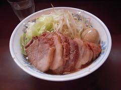"Ramen with Extra BBQ Pork @ Ramen ""Riku,""  Setagaya, Tokyo, Japan"