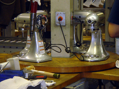 mixer assembly line