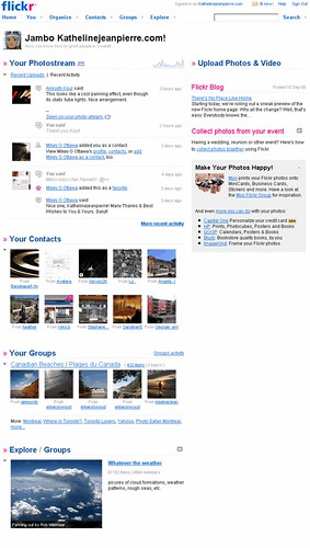 Flickr's new Homepage