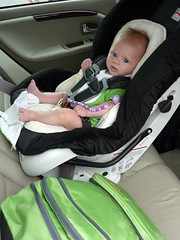 Ready to go home (douglasspics) Tags: california baby fletcher la losangeles mainstreet farmersmarket santamonica sunday douglass carseat britax