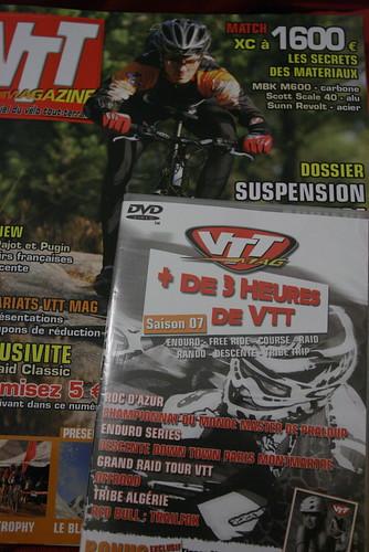 le VTT Mag de Mars 2008 .. avec un DVD ...