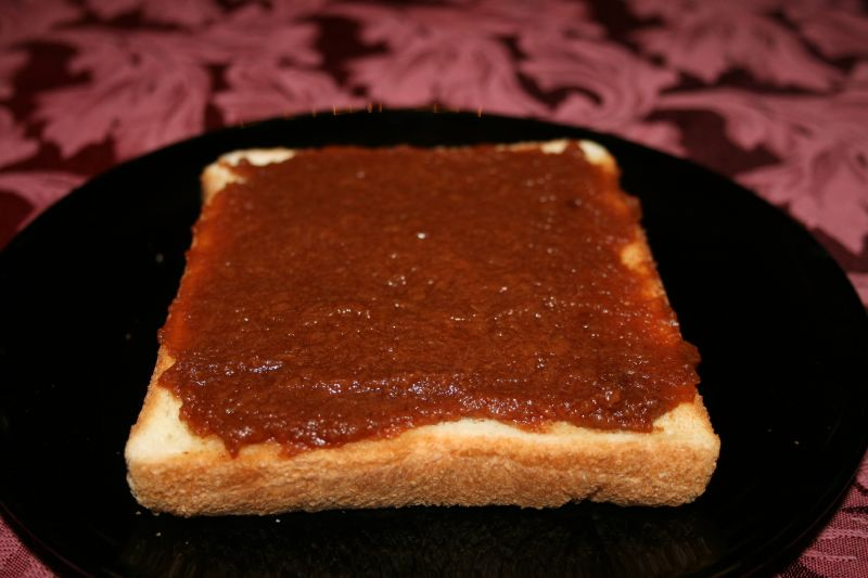 Apple Butter on Hotel Bread
