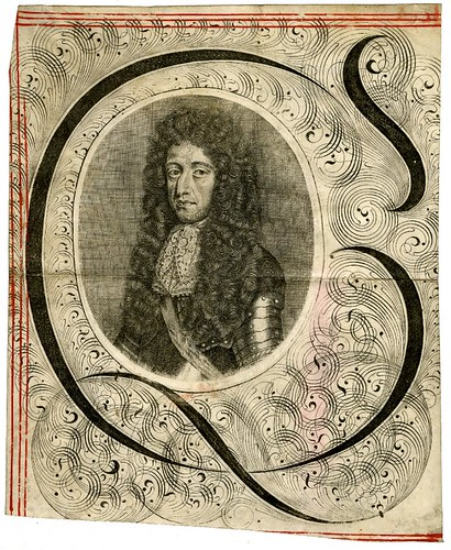 33- Inicial con portarretrato de William III tomado de un documento legal de 1690