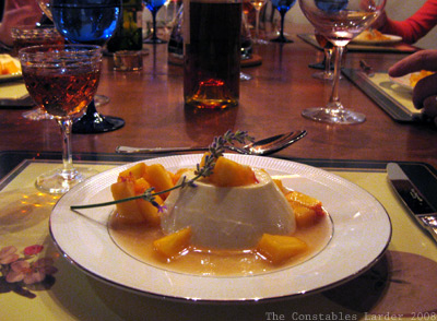 table panna cotta