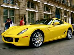 plaza paris car yellow cool italian fast ferrari rolls phantom coupe royce combo pininfarina 599 athenee drophead