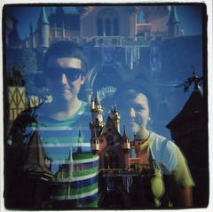 Disneyland (Claire Marie Vogel) Tags: california sleeping silly color castle 120 film beauty smile smiling square photo claire holga cool exposure disneyland picture double photograph medium format anaheim vogel mikal cronin