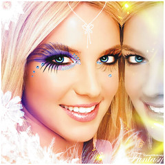 Britney Spears [Fantasy Make up] ( Omar Rodriguez V.) Tags: blue flower colors beautiful yellow diamonds butterfly lights eyes shiny shine photoshoot princess spears circus magic feather butterflies makeup lips sparkle fairy fantasy draw blackout omar britney edit rodriguez corel photopaint inthezone womanizer slave4britney