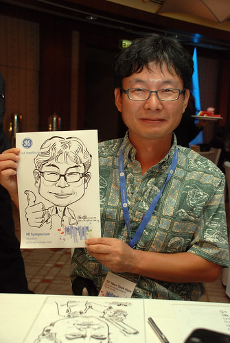 Caricature live sketching for GE Healthcare MI Symposium 15