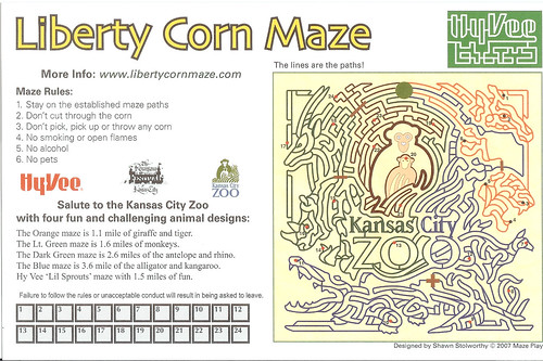 2008-09-28 - Liberty Corn Maze Map - Back