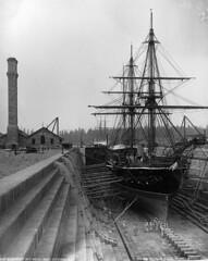 Esquimault Dry Dock near Victoria, BC, 1887 (Muse McCord Museum) Tags: canada boat dock ship bc britishcolumbia victoria mast mccordmuseum musemccord commons:event=commonground2009