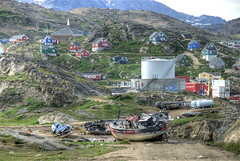 Tasiilaq (wili_hybrid) Tags: trip travel summer vacation holiday nature buildings landscape geotagged outside outdoors photo yahoo high topv333 nikon colorful europe flickr european exterior village dynamic photos outdoor north picture august pic arctic journey greenland inuit wikipedia imaging nordic d200 rts scandinavia northern mapping 2008 range geotag tone hdr scandinavian hdri photomatix nikond200 tonemapped tonemapping tasiilaq highdynamicrangeimaging randomtravelerssociety year2008