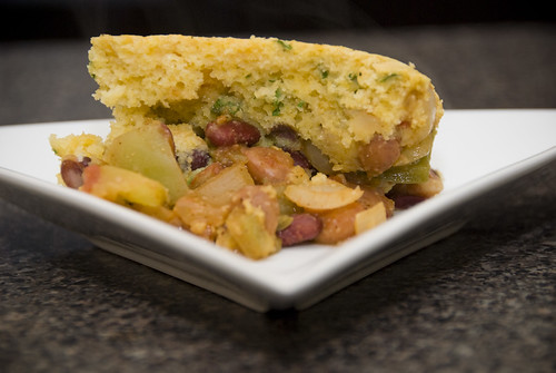 two bean tamale pie
