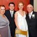 Casados e pais do noivo