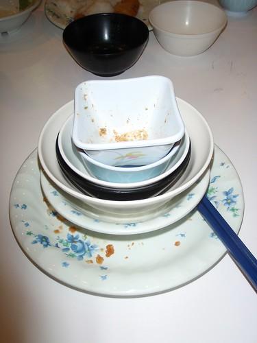 Platos de la cena
