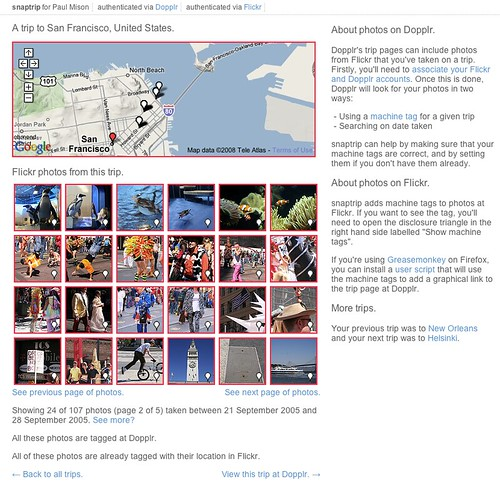 Flickr photos in snaptrip