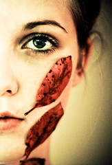 (Kjers..) Tags: autumn red portrait woman green eye fall hoja folhas leaves lady automne eyecontact decay herfst canonef50mmf18 otoo desaturated naturalbeauty autunno outono hst thefall feuilles syksy leftside halfportrait bladeren mannature amazingeyes wonderfuleyes redleave naturalwoman repeatingshapes eyeshape ladysface humanvsnature lipcolor autumnlife amazingeye canoneos450d fellfromtree womannature foglias yearisover oneyearlife odetotheleaves leavecolor wonderfuleye autumnlady leaveonface leaveshape fallingofleaves stuckonleaves repeatingcolors adeadleaf griefofleaves leafastear leavesastears