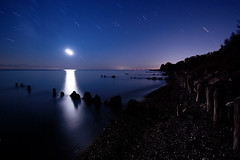 IMGP-7696 (Bob West) Tags: longexposure nightphotography moon ontario beach night lakeerie greatlakes nightshots startrails sigma1020mm erieau southwestontario bobwest k10d