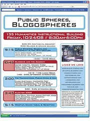 Public Spheres Blogospheres Flyer
