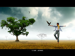The Spiritual Scarecrow (G.D.abir) Tags: light art dark artwork cg spirit scarecrow surreal crow spiritual drama bangladesh supernatural the unnatural abigfave gdabir gdastudio