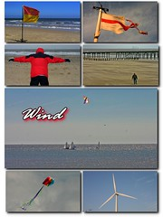 windy (alanasmut) Tags: sea kite collage boat sand wind flag blow turbine