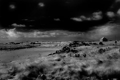 Deserted house on the beach (Dave Road Records) Tags: ireland blackandwhite landscape infrared mayo countymayo broadhaven lakecarrowmore
