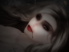 (* Fauve Beaumont *) Tags: halloween photoshop death blood vampire teeth avatar sl secondlife fauvebeaumont hairsfromrenderosity