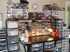 stamping station too (Jacki Marie Artist) Tags: castle storage organize