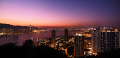 Sunset at Lam Tin (songallery) Tags: sunset red sea panorama orange night skyscraper mediumformat spectacular landscape geotagged hongkong harbor landscapes scenery wide grand scene glorious sight  brilliant   impressive magichour imposing kaitak victoriaharbour cambo  kwuntong   p45 phaseone  digitalback   39megapixels  highresolutions cambowideds