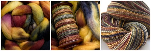 All Spun Up Oct SAL extrafine merino