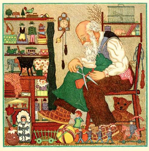 016-Santa Claus en su taller- Marta Zehenter