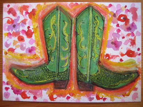 16. Green Cowboy Boots