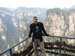En un balcón de Zhangjiajie