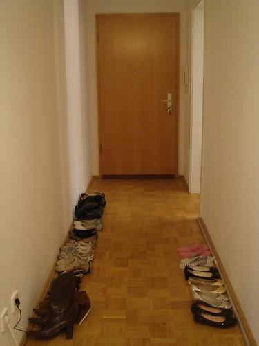 有如賣鞋般的走廊