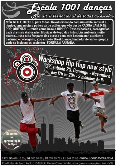 Flyer Workshop de Hip Hop