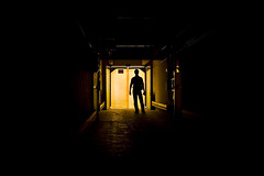 (ozio-bao) Tags: light man 20d silhouette yellow canon persona sigma giallo 17 70 luce challengeyouwinner