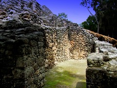 Chochaben Wall (Butch Osborne) Tags: travel mexico ancient ruins maya culture mayan mayanruins historical traveling antiquity mustsee mayanculture yuccatan westerncarribeancruise2006 mayancity bucketlist