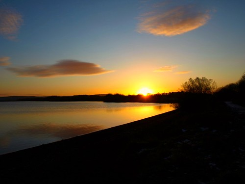 Loch Leven Sundown Kinross. by Brian Forbes