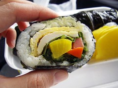 perilla leaf kimbab @ songs family