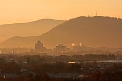 365 Days - Day 84 (konrad_photography) Tags: city mountains mill fog skyline sunrise dawn star virginia downtown cityscape days roanoke va konrad 365 daybreak